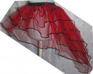 Tutu Skirt Peacock petticoat sequins Lady bug Red Halloween party