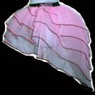Tutu Skirt victorian peacock Ruffle sequins Baby Pink Princess Barbi queen of heart