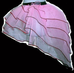 Tutu Skirt victorian peacock Ruffle sequins Baby Pink Princess Barbi queen of heart
