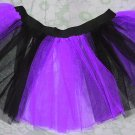 Christmas Purple Black Stripe TUTU SKIRT Punk Cyber Rave Gothic Goth EMO