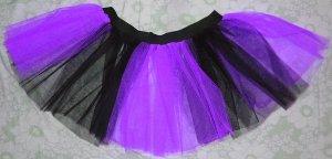 Christmas Purple Black Stripe TUTU SKIRT Punk Cyber Rave Gothic Goth EMO