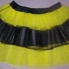 LIME TUTU SKIRT PETTICOAT DANCE RAVE CYBER PUNK NEON UV