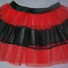 RED TUTU SKIRT PETTICOAT DANCE RAVE PARTY CLUB LADY BUG
