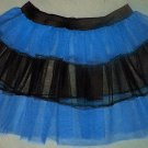 BLUE TUTU SKIRT PETTICOAT DANCE RAVE CYBER PARTY NEON