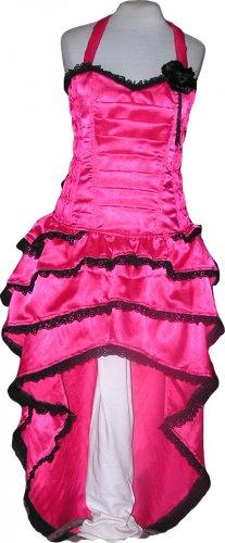Hot Pink Corset Celebrity evening Cocktail Party Dress Dance Bustle Designer