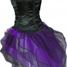 Purple Black Peacock Tutu Skirt Bustle Petticoat tone dance Gothic Steampunk rave hen party