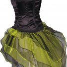 UV Neon Lime Black Peacock Tutu Skirt Bustle Petticoat tone dress dance rave hen Clubwear party