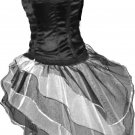 UV Neon White Black Peacock Tutu Skirt Bustle Petticoat tone dress dance rave Gothic Hen Club party