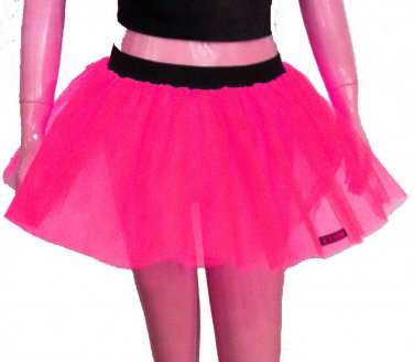 Neon Uv Hot Pink Tutu Skirt Petticoat Multi Layers Fancy Costumes Dress Dance Party Free Shipping