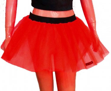Red Tutu Skirt Petticoat Multi Layers Non Neon Fancy Costumes Dress Dance Party Free Shipping