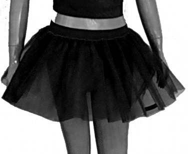 Black Tutu Skirt Petticoat Multi Layers Non Neon Fancy Costumes Dress Dance Party Free Shipping