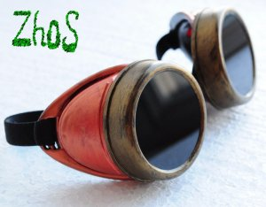 Steampunk Cyber Goggles Glasses Cosplay Anime Rave Larp 26