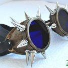 Cyber Goth Goggles Glasses 18 Spikes CyberPunk Industrial Noise Dark Wave Dark Mage -7