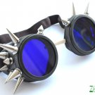 Cyber Goth Goggles Glasses 20 Spikes Punk Industrial Noise Dark Wave Steampunk  21