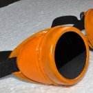 Steampunk Cyber Goggles Glasses Cosplay Anime Larp Rave Orange