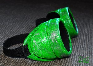 Steampunk Goggles Cyber Glasses Cosplay Anime Larp Rave Sheen Neon
