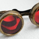 Steampunk Cyber Goggles Glasses Cosplay Anime Larp Rave 208kr