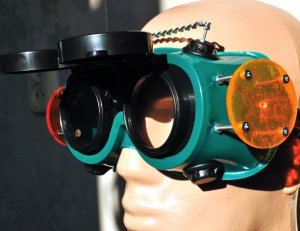 Steampunk Goggles Glasses Cyber HI TECH PEOPLE post Apocalypse