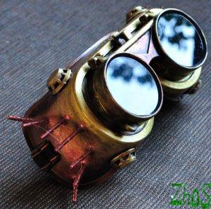 Steampunk Goggles Glasses Cyber post Apocalypse mad professor Gear wheels watch