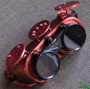 Steampunk Goggles Glasses Cyber HI TECH PEOPLE post Apocalypse mad professor