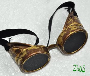 Steampunk Cyber Goggles Glasses Cosplay Anime Larp Rave 250