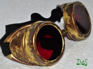 Steampunk Cyber Goggles Glasses Cosplay Anime Larp Rave 250kr