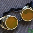 Steampunk Cyber Goggles Glasses Cosplay Anime Rave LARP Gold