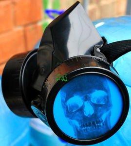 SKULL Cyber Gothic Mask Respirator Gas Mask Goth Blacks Fetish  SKULL COSPLAY