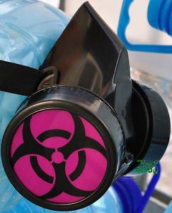 Blacks Pvh Modified Respirator Gas Mask Goth Biohazard Fetish PUNK Rave COSPLAY