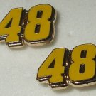 EARRINGS POST STUD #48 JIMMIE JOHNSON NASCAR JEWELRY