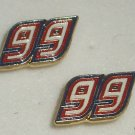EARRINGS POST STUD #99 CARL EDWARDS NASCAR JEWELRY RED