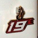 CHARM #19 ELLIOTT SADLER NASCAR AUTO RACING JEWELRY