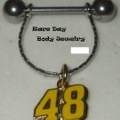 NIPPLE RING SHIELD SET#48 JIMMIE JOHNSON NASCAR JEWELRY