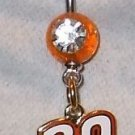 DANGLE BELLY RING #20 JOEY LOGANO NASCAR AUTO RACING