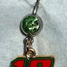 DANGLE BELLY RING #18 KYLE BUSCH NASCAR AUTO RACING