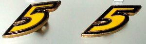 EARRINGS POST STUD #5 MARK MARTIN NASCAR AUTO RACING