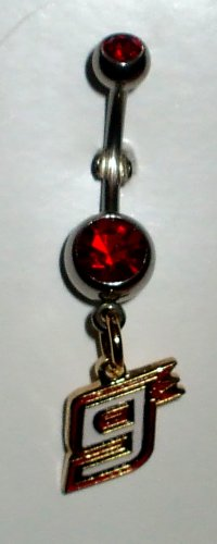 DANGLE BELLY RING #9 KASEY KAHNE NASCAR AUTO RACING