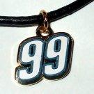 CHARM NECKLACE #99 CARL EDWARDS NASCAR RACING JEWELRY