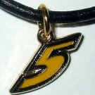 CHARM NECKLACE #5 MARK MARTIN NASCAR RACING JEWELRY