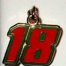CHARM #18 KYLE BUSCH NASCAR AUTO RACING RACE JEWELRY