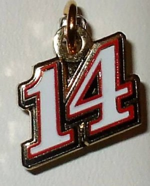 CHARM #14 TONY STEWART NASCAR AUTO RACING RACE JEWELRY