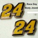 EARRINGS POST/STUD#24 JEFF GORDON NASCAR RACING JEWELRY