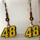 EARRINGS DANGLE #48 JIMMIE JOHNSON NASCAR RACE JEWELRY