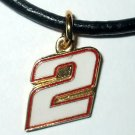 CHARM NECKLACE #2 NASCAR AUTO RACING RACE JEWELRY