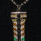 DRAG TREE STAGING LIGHT CHARM CHAIN NECKLACE NHRA AUTO RACING JEWELRY
