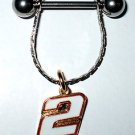 DANGLE NIPPLE RING #2 NASCAR SPRINT CUP AUTO RACING RACE DAY BODY JEWELRY