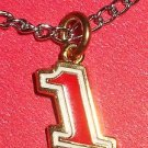 CHARM CHAIN NECKLACE #1 JAMIE MCMURRAY NASCAR AUTO RACING RACE DAY BODY JEWELRY