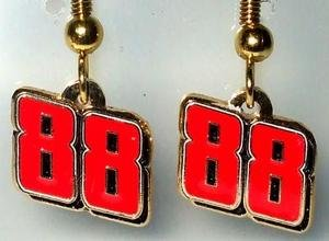 DANGLE EARRINGS #88 NASCAR SPRINT CUP AUTO RACING JEWELRY MX FOOTBALL SPORTS