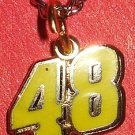 CHARM CHAIN NECKLACE #48 JIMMIE JOHNSON NASCAR AUTO RACING RACE DAY BODY JEWELRY