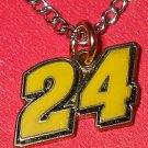 CHARM CHAIN NECKLACE #24 JEFF GORDON NASCAR AUTO RACING RACE DAY BODY JEWELRY